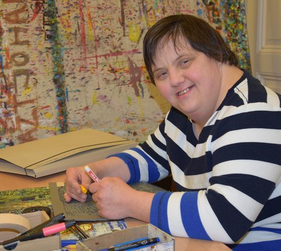 Johanna Rohregger, Künstlerin des Ateliers der Kunstwerkstatt des Diakoniewerks