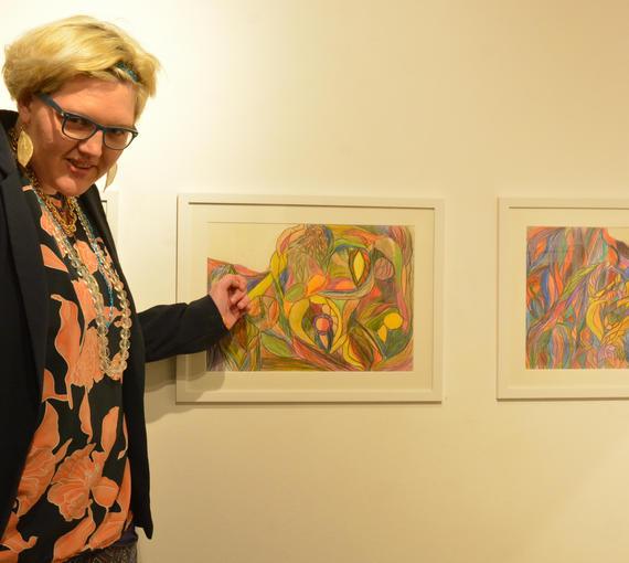 Magdalena Zehetner hat sie Ausstellung eröffnet.