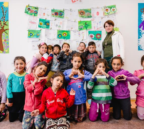 Kinder der Tagesbetreuung Dumbraveni