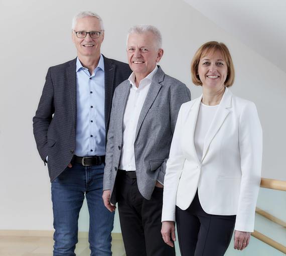3er-Vorstand des Diakoniewerks: Vorstandsvorsitzender Mag. J. Scharinger, Pfr. Dipl.Psych. Rainer Wettreck, Dr. Daniela Palk